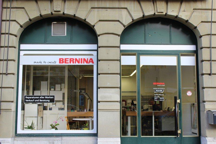 Pulver BERNINA Nähcenter Bern unsere Nähmaschinen Werkstatt